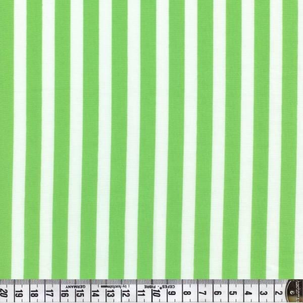 Streifen - grün weiß - Patchworkstoff