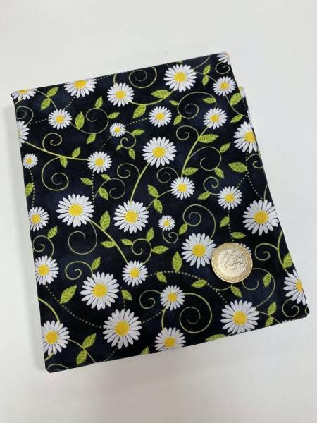 Blumen - schwarz - Patchworkstoff