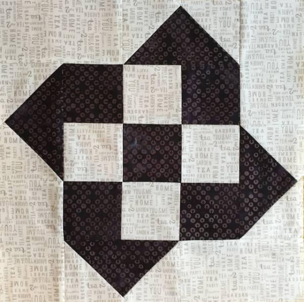 Anleitung - Twisted Squares - Block Nr. 32 - Nähanleitung