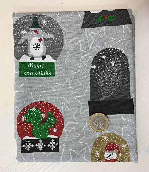 Snow House - Weihnachtskugeln - grau