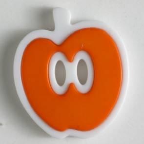Kinderknopf - Apfel - orange - 25 mm