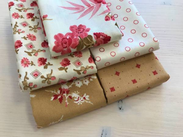 Little Sweetheart - Stoffpäckchen - creme - 5 Fat Quarter