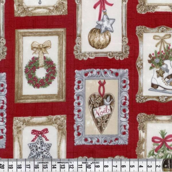 Balmoral - Weihnachtsstoff - Motive - rot