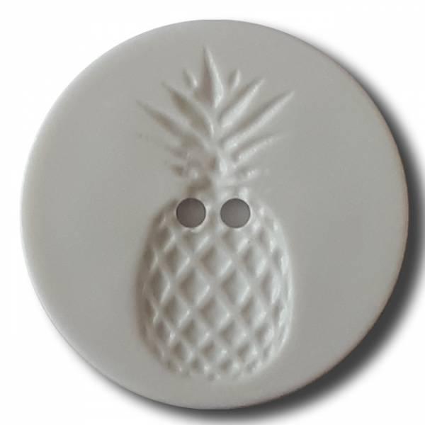 Modeknopf - Ananas weiß - 23 mm