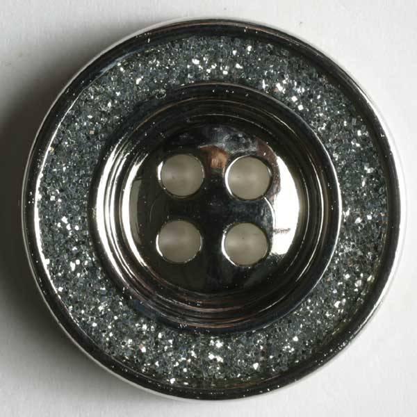 Modeknopf - silber -19 mm