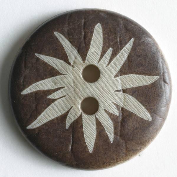 Modeknopf - braun - 20 mm