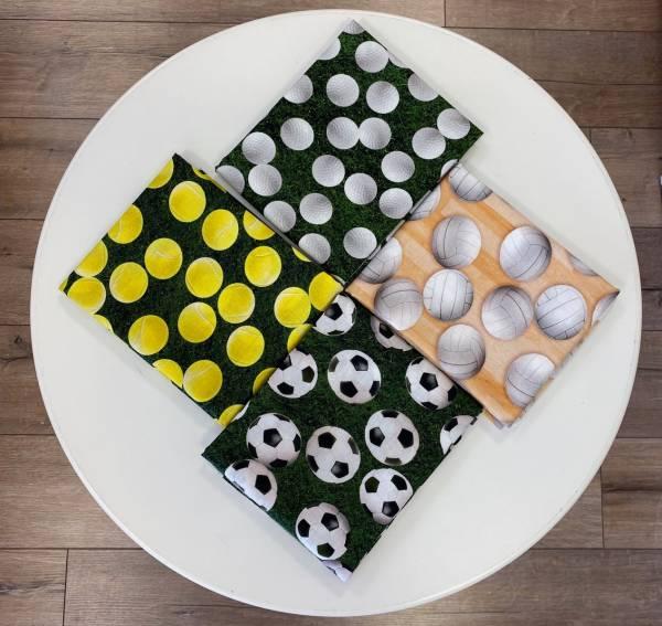 Fußball - Golf - Volleyball - Tennis - Stoffserie - Meterware