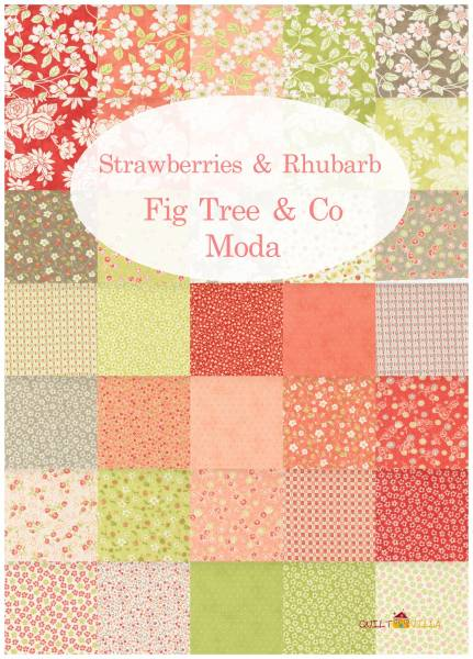 Charm Pack - Strawberries + Rhubarb