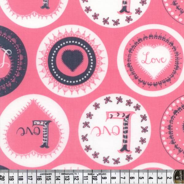 Love Letters - Buttons - rosa