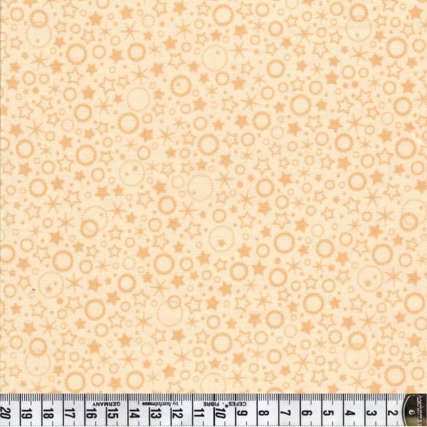 Punkte und Sterne - creme - Patchworkstoff