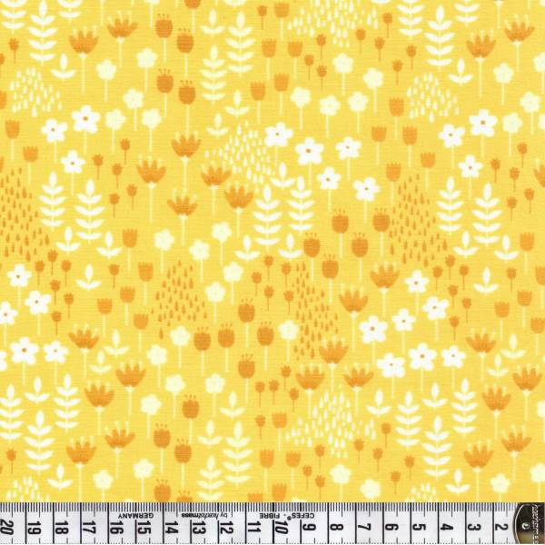 Blumen - gelb - Patchworkstoff