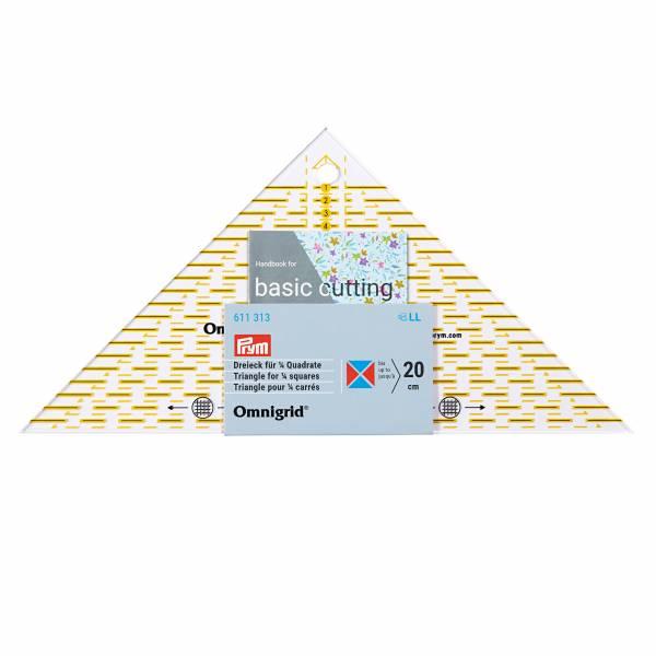 Flottes Dreieck - für ¼ Quadrat-Dreiecke bis 20 cm