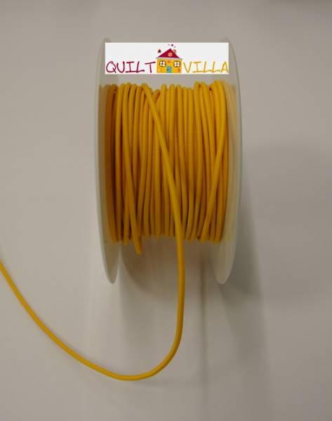 Gummikordel - Elastikkordel gelb 2 mm