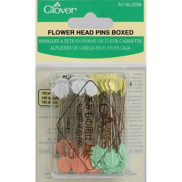 Quiltstecknadeln mit Blumenkopf - 100 Stück - 0,7mm / 54mm