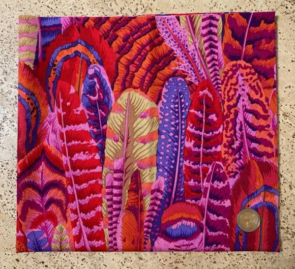 Feathers - Red - Philip Jacobs for the Kaffe Fassett Collective