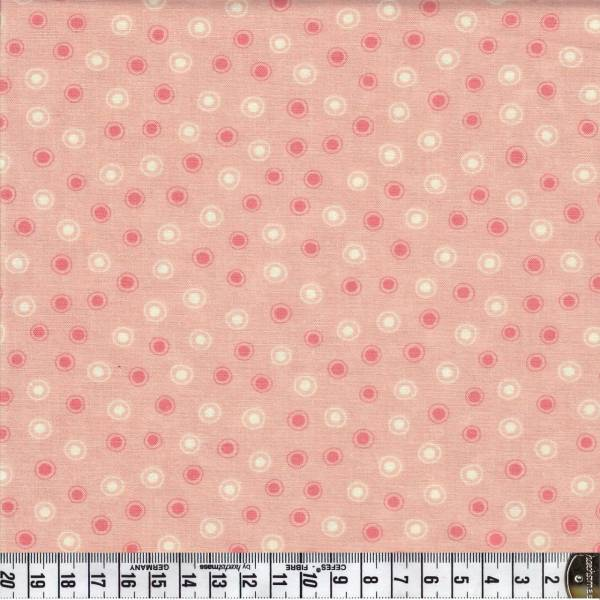 Chance of Flowers - Punkte - rosa - Patchworkstoff