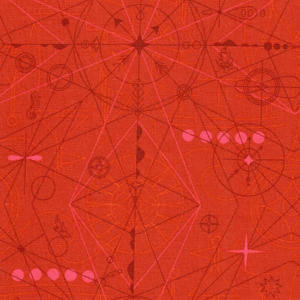 Sun Print 2018 - Alison Glass - Kompass - rot-orange - Patchworkstoff