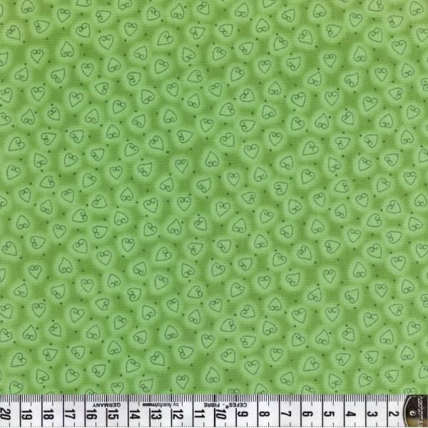Herz - Herzen - Quilters Basic - grün