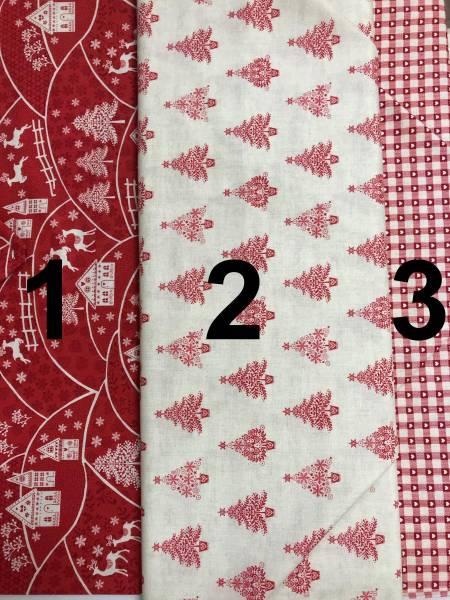 Scandi - Stoffserie - Weihnachtsstoffe - rot