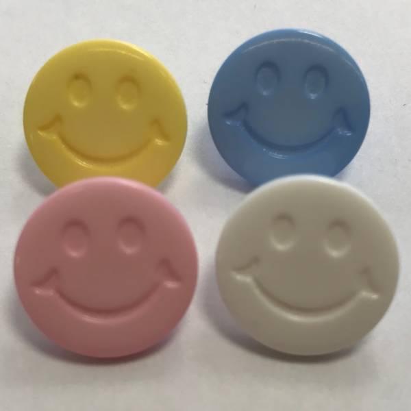 "Knopf ""Smiley"" - bunt - 15 mm"