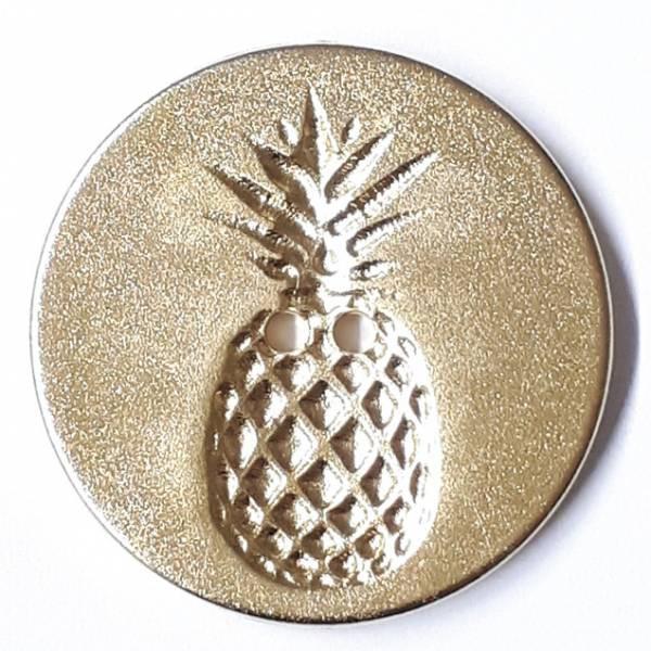 Modeknopf - Ananas gold - 18 mm