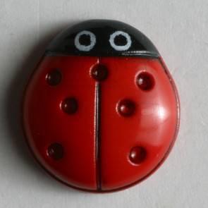 "Kinderknopf ""Marienkäfer"" - rot - 11 mm"