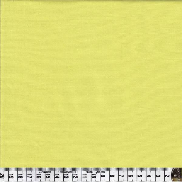 Spectrum G60 - Gelbgrün - Uni - Patchworkstoff