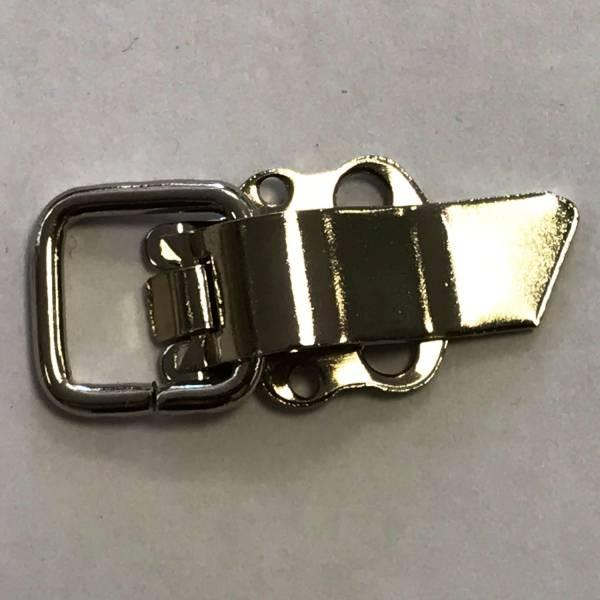 Metallschließe - echt versilbert - 22 mm