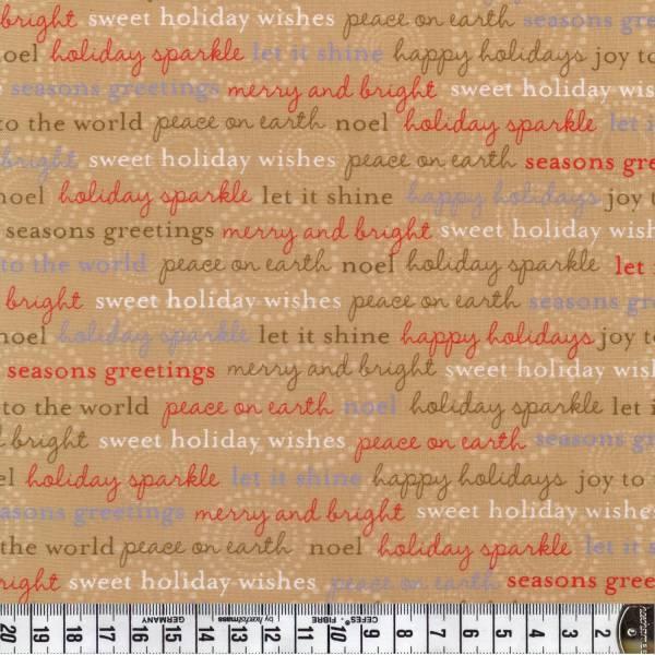 Holiday Sparkle - Schrift auf creme