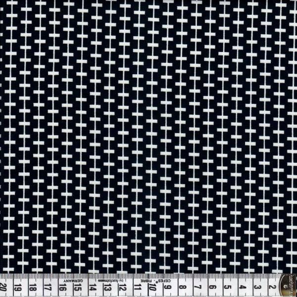 Duo - Streifen kreuz und quer - schwarz - weiß