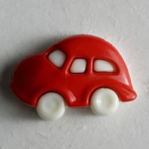 Kinderknopf - Auto - rot - 20 mm