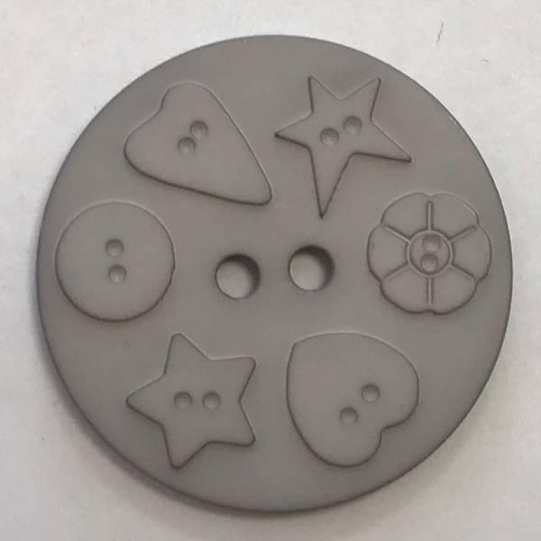 Großer Knopf - grau - 30 mm