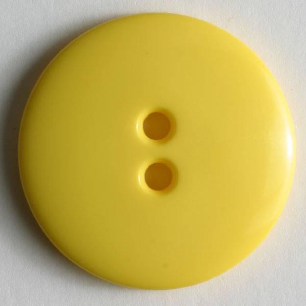 Knopf - gelb - 18 mm