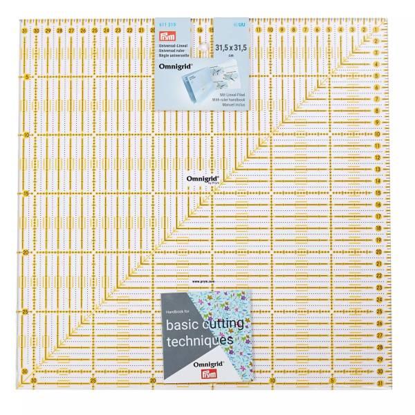 Universal-Lineal 31,5 x 31,5 cm - Patchworklineal Quadrat
