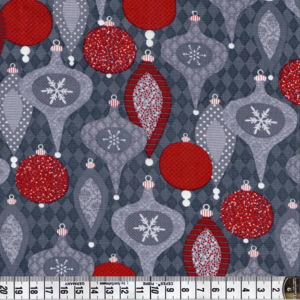 Holiday Sparkle - Kugeln auf Grau