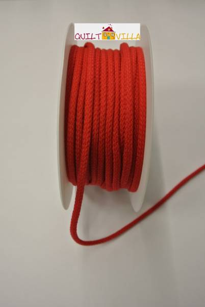 Baumwollkordel - Kordel rot 4 mm