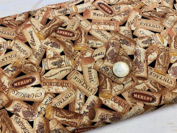 Korken - Weinkorken - Patchworkstoff