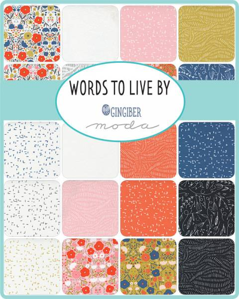 Charm Pack - Words to Live By - Gingiber