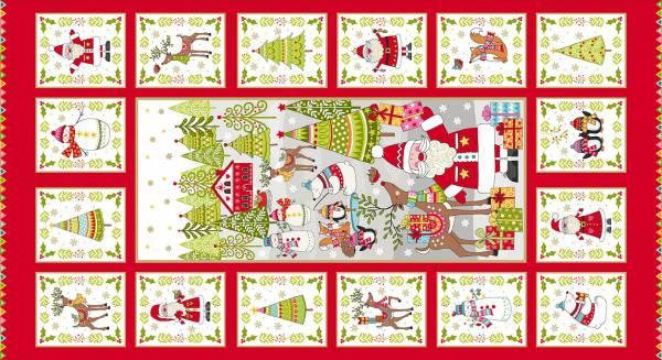Festive - Weihnachtsstoff - Panel