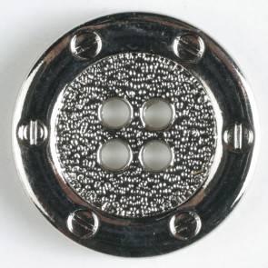 Metallknopf - silber - 15 mm