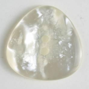 Knopf - Perlmuttoptik - weiß - 25 mm