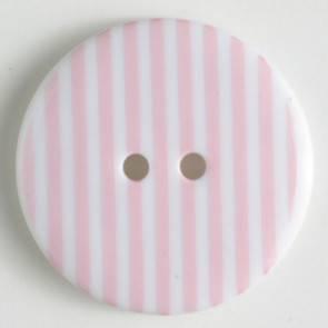 Modeknopf - rosa - weiß - gestreift - 20mm