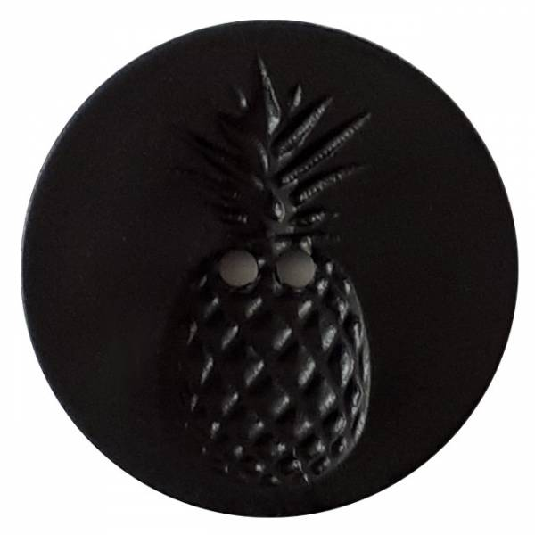 Modeknopf - Ananas schwarz - 18 mm