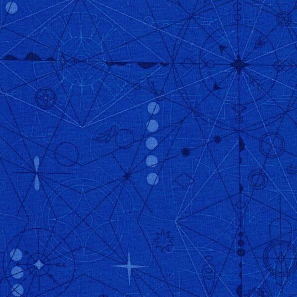 Sun Print 2018 - Alison Glass - Kompass - blau - Patchworkstoff