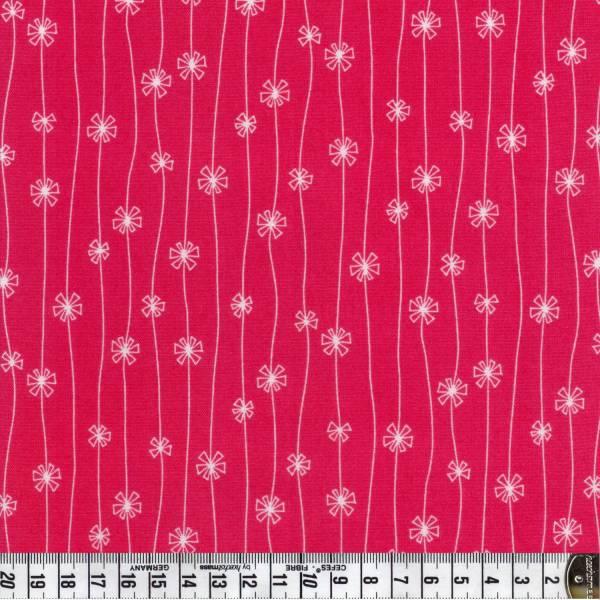 Meadow - Blumen - pink - Patchworkstoff