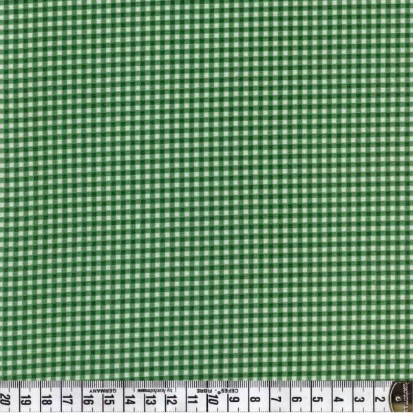 Karo - grün weiß - Patchworkstoff