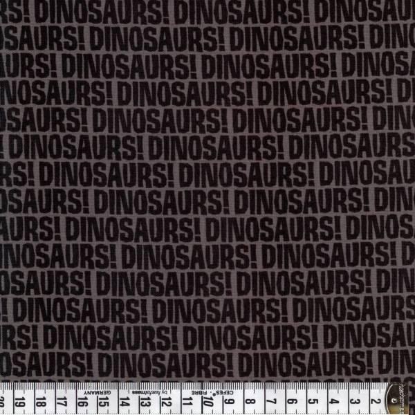 Dino - Schrift - schwarz