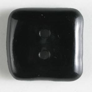 Modeknopf - schwarz - quadratisch - 15 mm