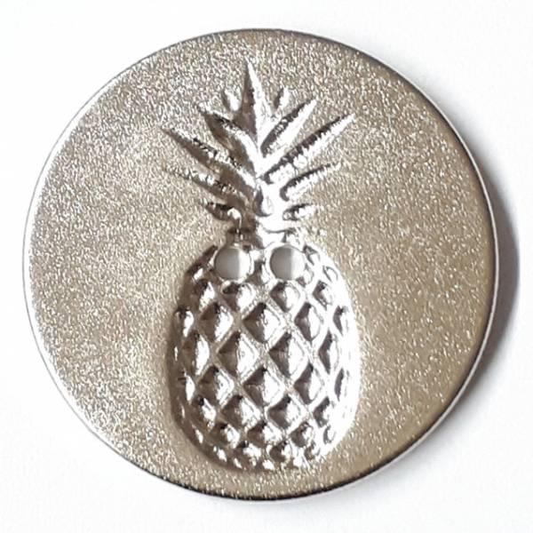 Modeknopf - Ananas silber - 18 mm