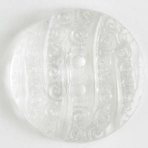 Modeknopf - weiß - durchsichtig - 23 mm